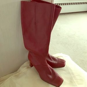 Red leather Kenneth Cole Boots