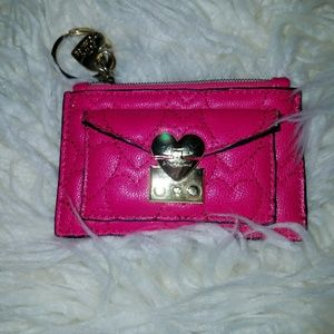 Betsey Johnson card wallet key chain.