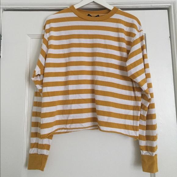 ed656f8d35 Brandy Melville Tops | Mustard Stripe Top | Poshmark