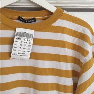 4689b17651 Brandy Melville Tops - Brandy Melville mustard stripe top