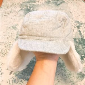 Baby Gap Faux Fur Grey Hat