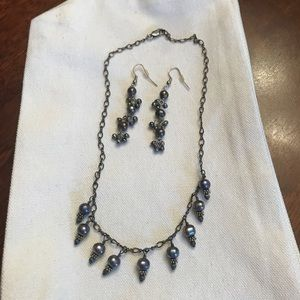Jewelry - Sterling Silver Black Freshwater Pearl set