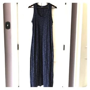 Fall Maxi - navy and white heathered