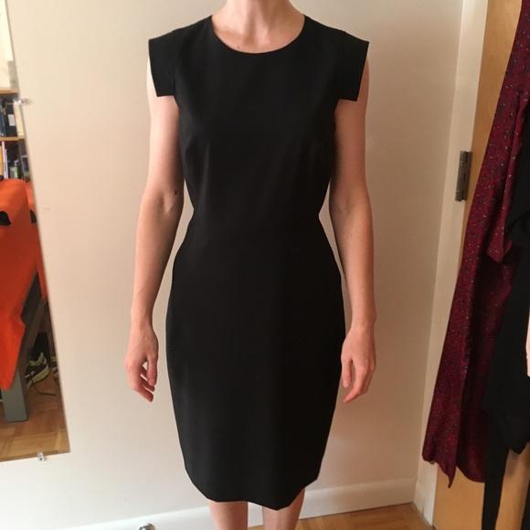 J Crew Dresses Jcrew Resume Dress In Stretch Wool Black Size 2