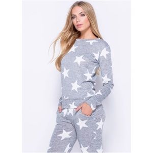🆕 Gray and White Star Casual Wear Set
