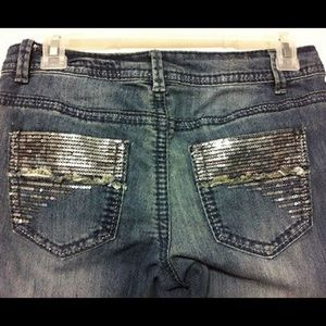 Mossimo boot cut sequin jeans size 13 w/belt