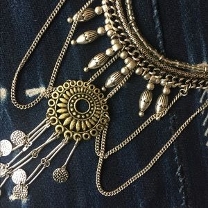 Forever 21 Boho Silver Necklace