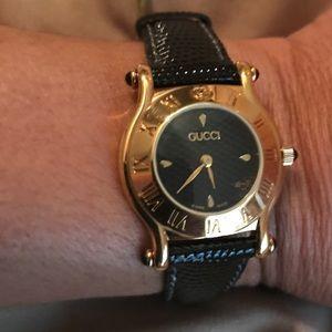 ac6cf4a1779 Gucci Accessories - Vintage Gucci 6500L Swiss ladies watch 1990s NWT