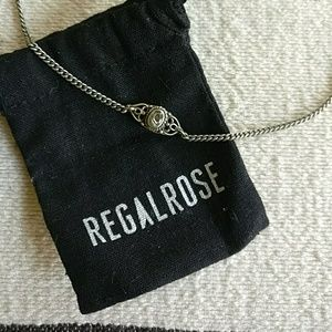 Regal Rose choker with shell inlay