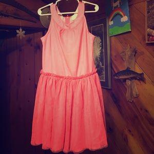 Flowy & fun girls Coral dress size7 Crazy8