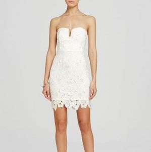 New Mystic Strapless Floral Lace Dress