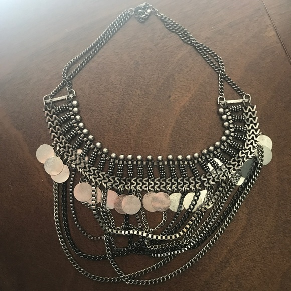 H M Jewelry Large Silver Ornate Chain Necklace Poshmark