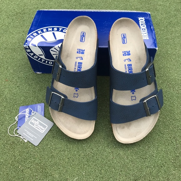 617d32ae763e Birkenstock Shoes | Arizona Navy 38 Regular Two Tone | Poshmark