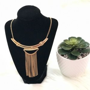 Jewelry - Gold Fringe Statement Necklace