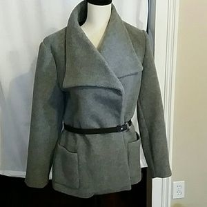 Emu Jackets & Coats - EMU Australia Gray Lake Eliza Merino Wool Coat Lg