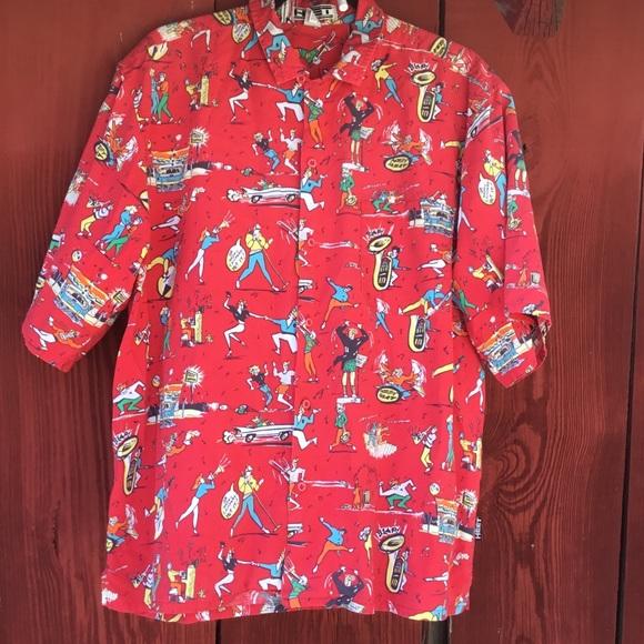 19ab374aede77b Vintage Shirts | Vtg 80s Heet Sportswear Happy Camper Camp Shirt Md ...