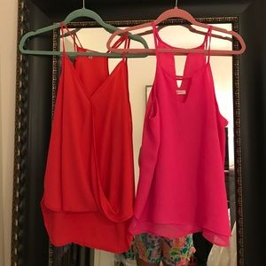 Lot of 2 Tank Tops - Pink and Red