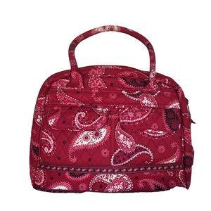 Vera Bradley Retired Mesa Red Bowler bag-EUC