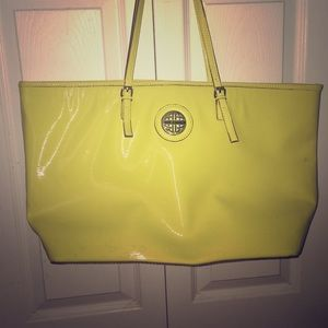 Kate Landry Neon Yellow Handbag