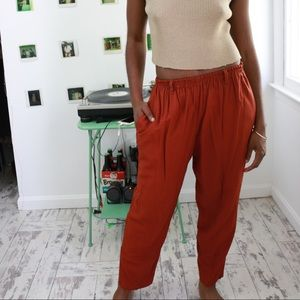Deep Terracotta Pants