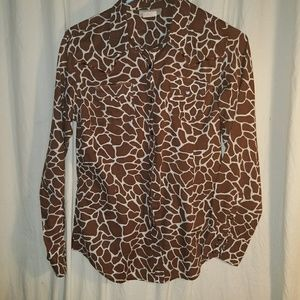 Ariat women's long sleeve print blouse sz medium