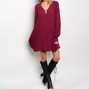 VALENTINES DAY Burgundy Dress