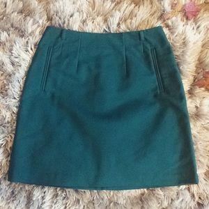 Green H&M pencil skirt