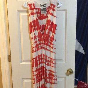 BNWOT Young fabulous and broke tie dye maxi dress