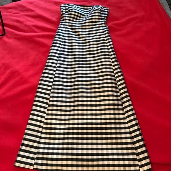 Ralph Lauren silk strapless dress