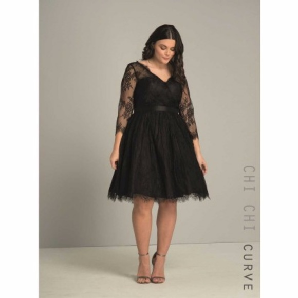 Chi Chi Curve Dresses Chi Chi London Curve Nadia Black Lace Formal