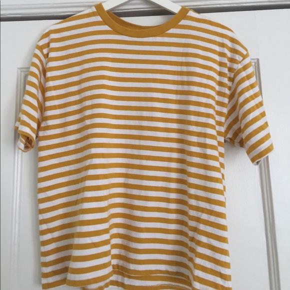 b8de9bc5b5 Brandy Melville Tops | Golden Stripe Top | Poshmark