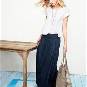 36fbce5633 Garnet Hill Skirts | Garner Hill Favorite Maxi Skirt Navy | Poshmark