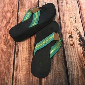J. Crew flip flops size 10