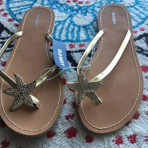 Old Navy Starfish Flip Flops