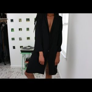 Oversized Blazer Dress In Black