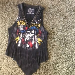 Affliction shirt nwot. Size L