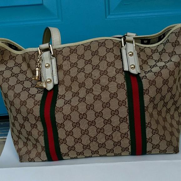 80f16b8a52d Gucci Handbags - GUCCI Monogram Large Jolicoeur Tote White