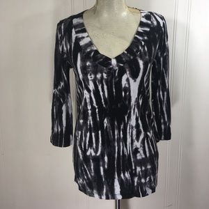 All Items 3for$15! Nicole Miller Tie Dye Blouse