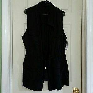 Black utility vest XXL