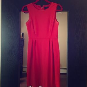 Classic red shift dress