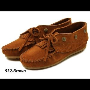 78d580bff16 Minnetonka Fringe Moccasin Jeweled