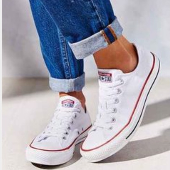 9f7bdff39027 Converse Shoes - Converse Chuck Taylor Low Cut White Sneakers 8.5