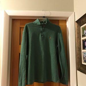 Two men's  Ralph Lauren quarter zip sweaters