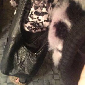 Handbags - LeAther hobo, key attachment, shearling inside
