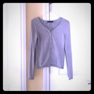 The limited gray cardigan