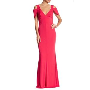 ABS by Allen Schwartz Triangle Red Gown Size M