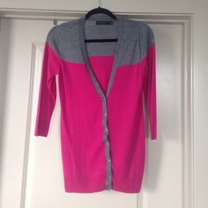 V-neck Cardigan with 3/4 Sleeves