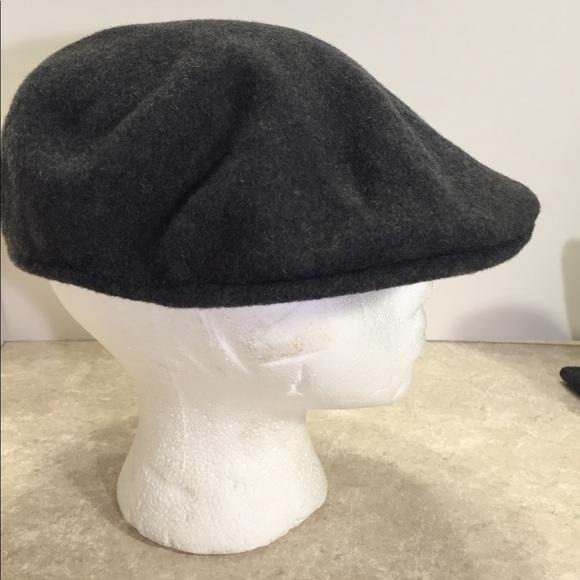 Kangol 504 100% wool grey newsboy hat 61c5e0be332