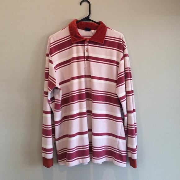 c81cee22 Men's Vintage 70s Burgundy Velour Striped Shirt. M_59bea9282fd0b71d19081ab5