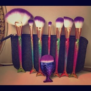 Other - Mermaid Makeup Brushes Set